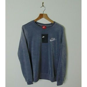 NEW Nike Large Pullover Crewneck Sweater Gray